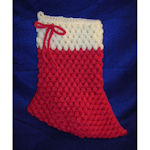 Puff Stitch Elf Stocking