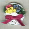 Basket of Spring Flowers Pin
